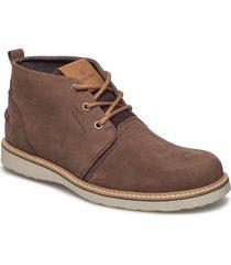 milko 02 mid m desert boots snörskor brun björn borg