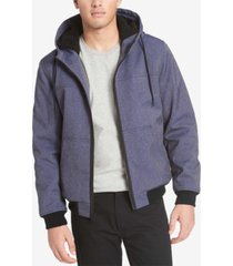 levi's men's soft shell jacket with fleece-lined hood