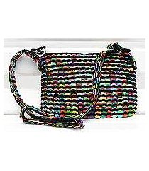 soda pop-top cosmetics shoulder bag, 'chic colors' (brazil)