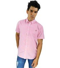 camisa de vestir cuadros rosados
