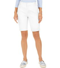charter club bermuda twill shorts, created for macy's