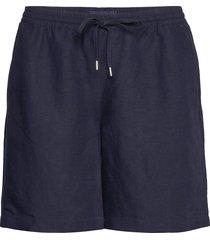 d2. summer linen short shorts flowy shorts/casual shorts blå gant