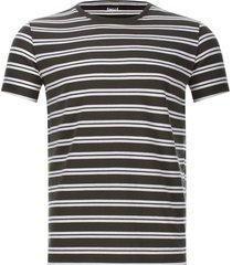 camiseta a rayas delgadas color verde, talla s