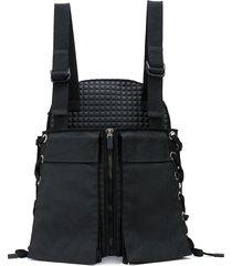 no ka' oi hybrid lace-up utility backpack - black