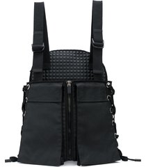 no ka' oi hybrid lace-up utility backpack - black