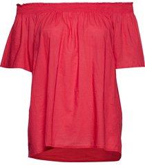 blouse blouses short-sleeved röd united colors of benetton