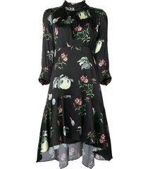 peter pilotto floral-print dress - black