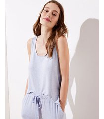 loft marled pajama tank top