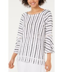 jm collection bell-sleeve crinkle top, created for macy's