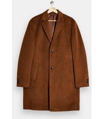 mens brown classic fit overcoat