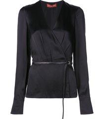 altuzarra erika belted blouse - black