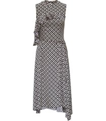 marine serre moon lozenge hybrid long dress