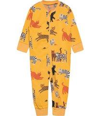 pyjamas cat story pyjamas sie jumpsuit gul lindex