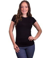 mini t-shirt dama cuello redondo  negro s bocared maite 27011663
