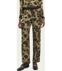 scotch & soda lenzing™ ecovero™ wide-leg trousers