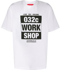 032c work shop logo t-shirt - white