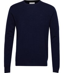 cashmerino knitwear gebreide trui met ronde kraag blauw les deux