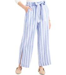 indigo rein juniors' striped belted wide-leg pants