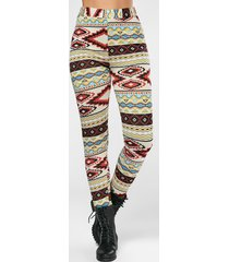 high waisted colorful geometrical print leggings