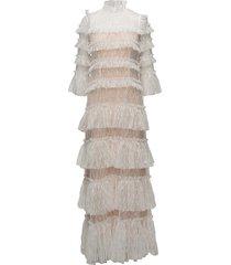 carmine maxi dress maxiklänning festklänning creme by malina