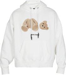 palm angels teddy bear hoodie