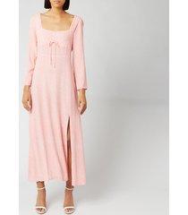 rixo women's antoinette dress - retro micro floral/coral cream - xs
