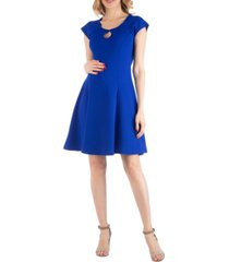24seven comfort apparel maternity dress with keyhole neck