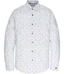 cast iron csi201600 7003 long sleeve shirt print on stretch poplin bright white wit
