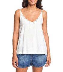 women's roxy golden dreams camisole top, size small - white