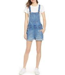 women's madewell adirondack short overalls, size xx-small - blue