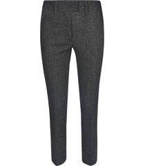 dondup elastic fit trousers