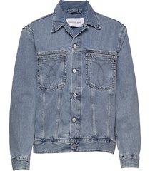 iconic over d den jeansjack denimjack blauw calvin klein jeans