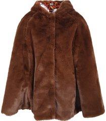 dolce & gabbana brown cape for girl