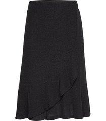 minucr skirt knälång kjol svart cream