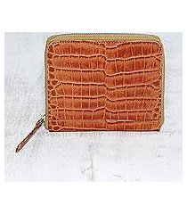 leather wallet, 'travel light in brown' (india)