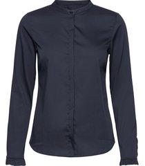 mattie sustainable shirt långärmad skjorta blå mos mosh