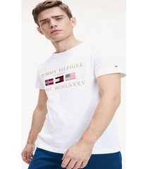 camiseta logo global blanco tommy hilfiger