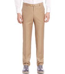 flat-front dress pants