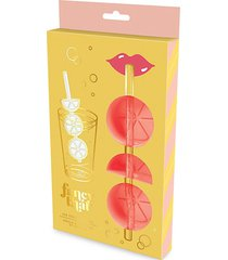 3-piece citrus sippers ice trays & straws set