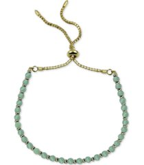argento vivo aqua chalcedony bolo bracelet (also in onyx)