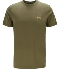 hugo boss big & tall t-shirt olijfgroen