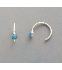 touch of turquoise hoop earrings