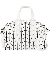 geometric duffle weekend bag