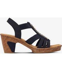 sandalett med träliknande klack och sula