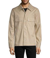 snap cotton shirt jacket