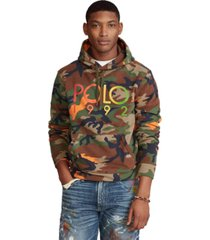 polo ralph lauren men's big & tall logo camo fleece hoodie