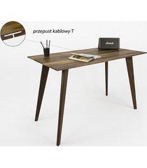 biurko / orzech / z przepustem kablowym
