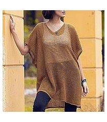 knit tunic, 'copper dreamcatcher' (peru)