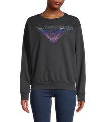 prince peter collection women's wonder woman-print cotton sweatshirt - black - size xs