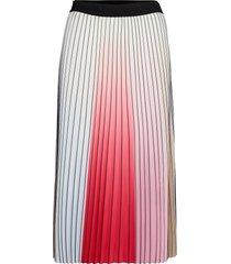pleated rainbow skirt knälång kjol multi/mönstrad karl lagerfeld